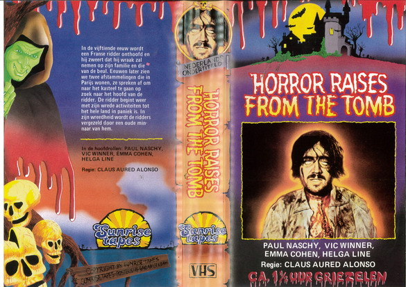 HORROR RISES FROM THE TOMB (VHS) HOL