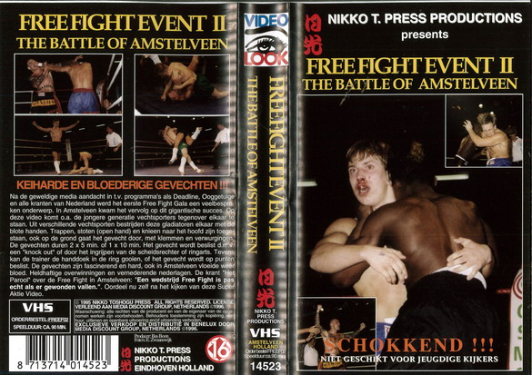 FREE FIGHT EVENT 2 (VHS) HOL