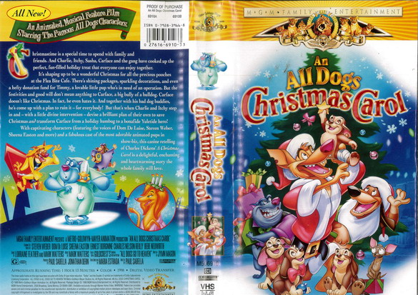 AN ALL DOGS CHRISTMAS CAROL (VHS) USA