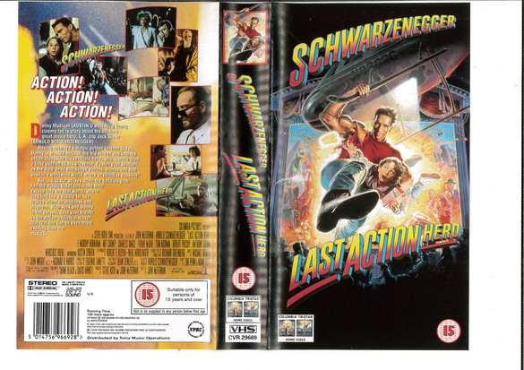 LAST ACTION HERO (VHS)UK