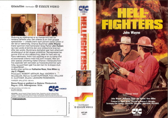 HELLFIGHTERS (VHS) NORGE
