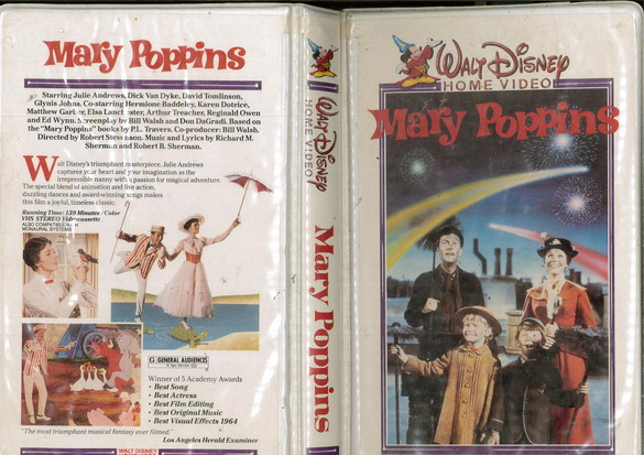 MARY POPPINS (VHS) USA