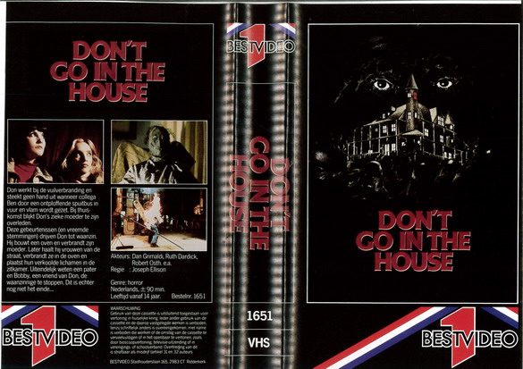 DON'T GO IN THE HOUSE (VHS) HOL