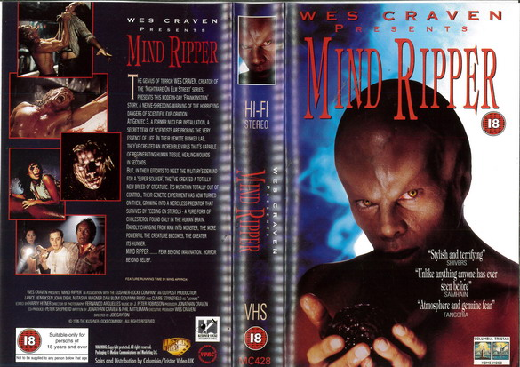 MIND RIPPER (VHS) UK