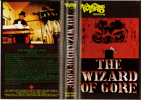 WIZARD OF GORE (VHS) IMPORT
