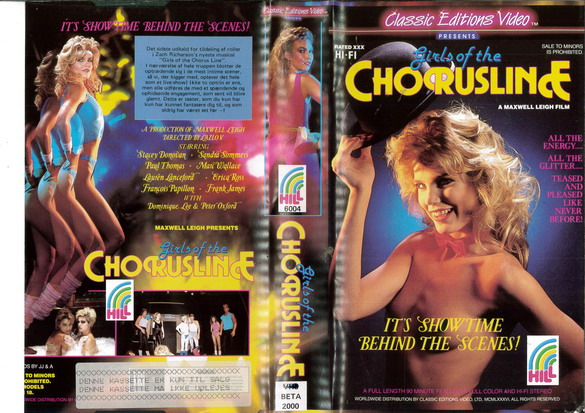 GIRLS OF THE CHORUSLINE (VHS) DK