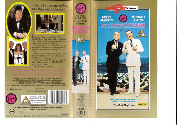 DIRTY ROTTEN SCOUNDRELS (VHS) UK