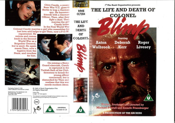LIFE AND DEATH OF COLONEL (VHS) UK