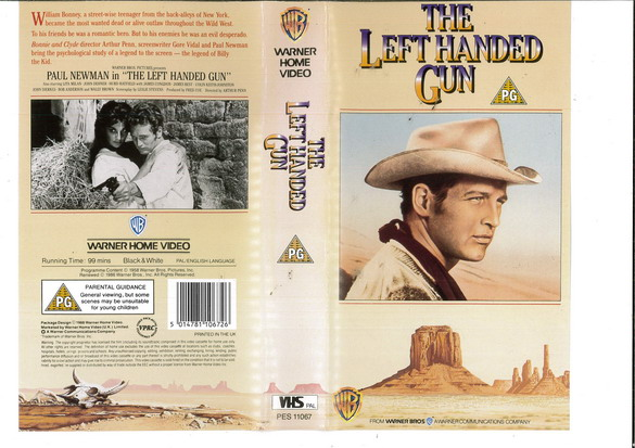 LEFT HANDED GUN (VHS) UK