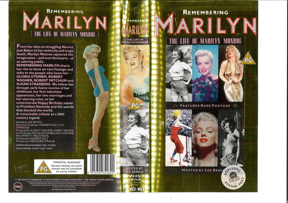 REMEMBERING MARILYN (VHS) UK
