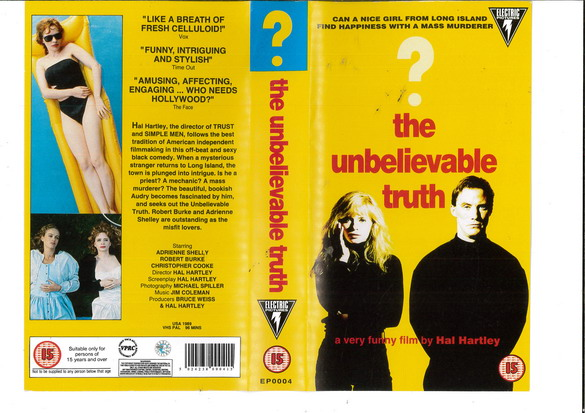 UNBELIEVABLE TRUTH (VHS) UK