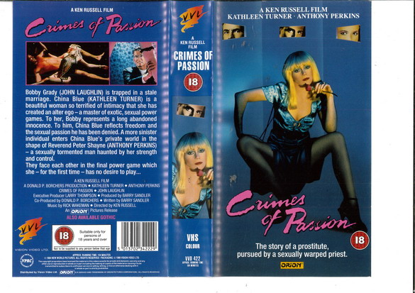 CRIMES OF PASSION (VHS) UK