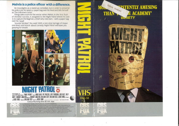 NIGHT PATROL (VHS) UK