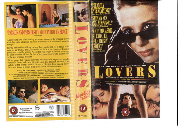 LOVERS (VHS) UK