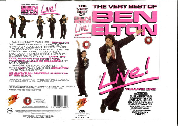 VERY BEST OF BEN STELTON LIVE! (VHS) UK