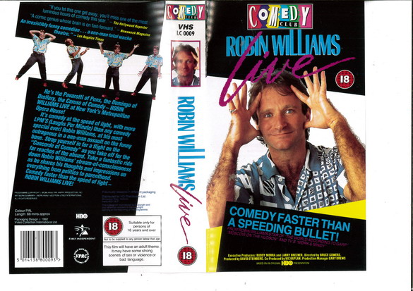 ROBIN WILLIAMS LIVE (VHS) UK