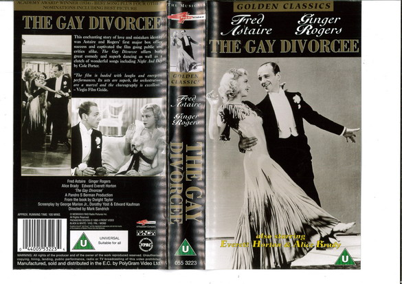 GAY DIVORCEE (VHS) UK