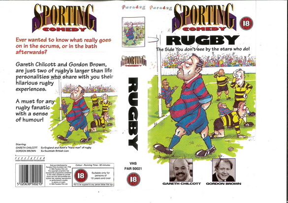 SPORTING COMEDY RUGBY (VHS) UK