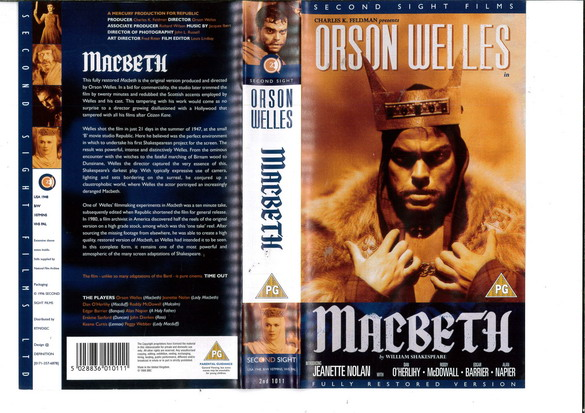 MACBETH (VHS) UK