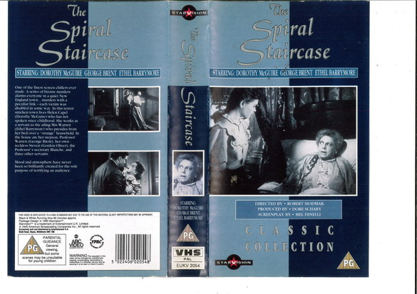 SPIRAL STAIRCASE (VHS) UK