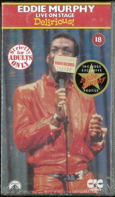 EDDIE MURPHYS LIVE ON STAGE - DELIRIOUS (VHS) UK