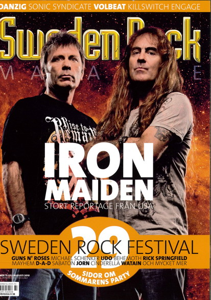 SWEDEN ROCK MAGAZINE 73 - AUGUSTI 2010