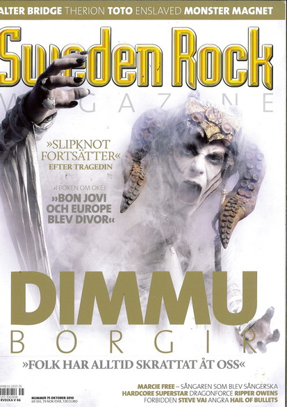 SWEDEN ROCK MAGAZINE 75 - OKTOBER 2010