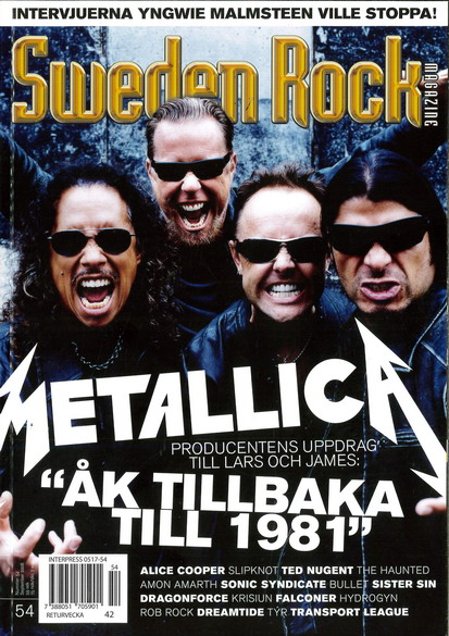 SWEDEN ROCK MAGAZINE 54 - SEPTEMBER 2008