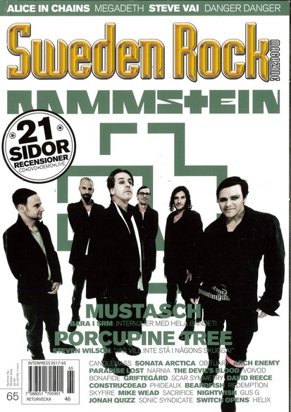 SWEDEN ROCK MAGAZINE 65 - OKTOBER 2010