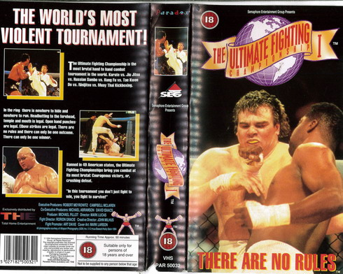 ULTIMATE FIGHTING CHAMPIONSHIP 1 (VHS) UK