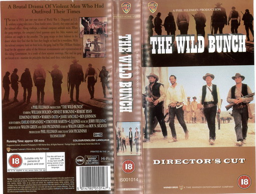 WILD BUNCH (VHS) UK