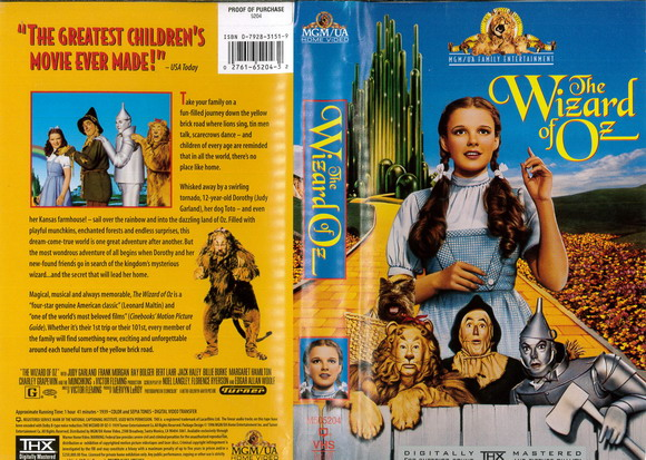 WIZARD OF OZ (VHS) USA