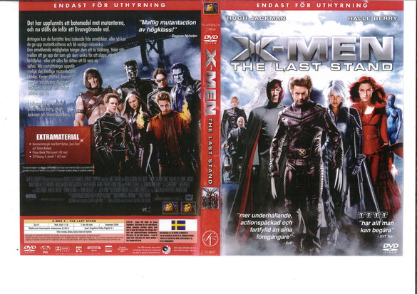 X-MEN: THE LAST STAND (DVD OMSLAG)