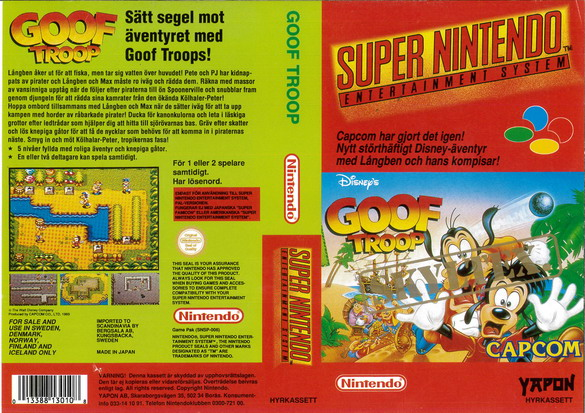 GOOF TROOP (SNES-OMSLAG)