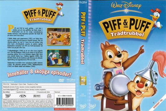 PIFF & PUFF: TRÄDTRUBBEL (DVD OMSLAG)