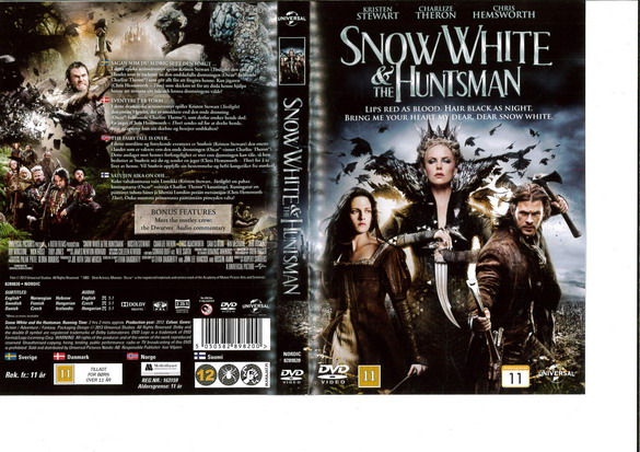 SNOW WHITE AND THE HUNTSMAN (DVD OMSLAG)