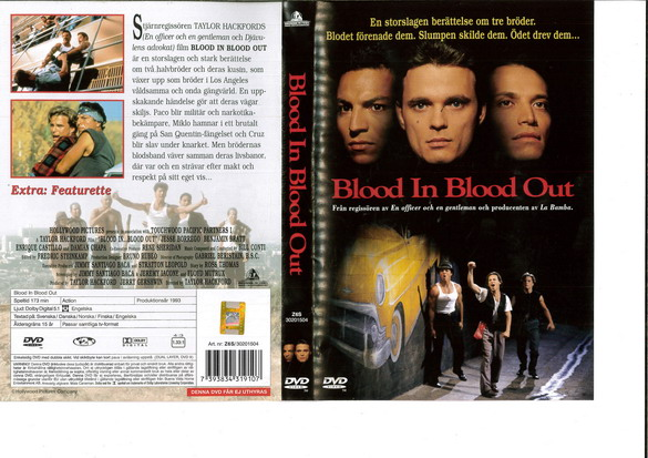 BLOOD IN BLOOD OUT (DVD OMSLAG)