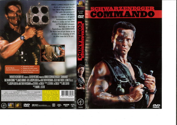COMMANDO (DVD OMSLAG)
