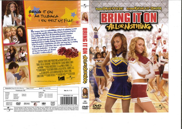 BRING IT ON: ALL OR NOTHING (DVD OMSLAG)
