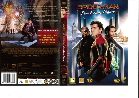 SPIDER-MAN: FAR FROM HOME (DVD OMSLAG)