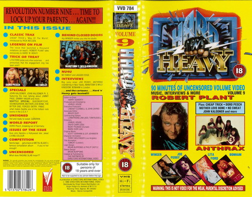 HARD AND HEAVY VOL: 9 (VHS)