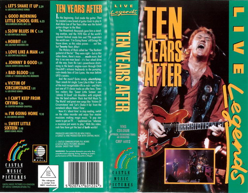 LIVE LEGENDS: TEN YEARS AFTER (VHS)