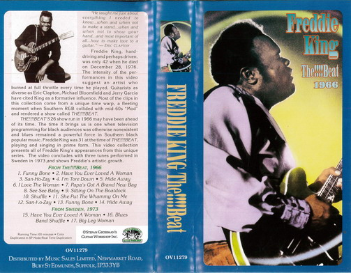 FREDDIE KING: THE!!!!BEAT 1966 (VHS)