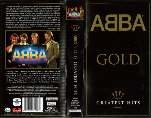 ABBA: GOLD - GREATEST HITS (VHS)