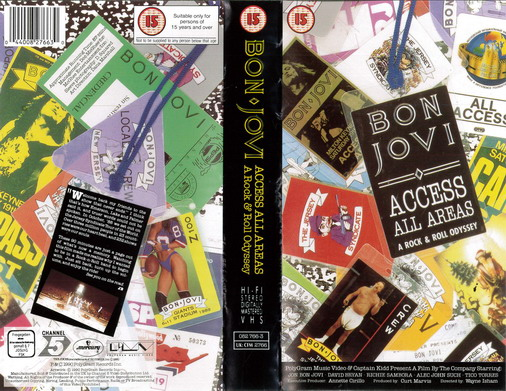 BON JOVI: ACCES ALL AREAS (VHS)