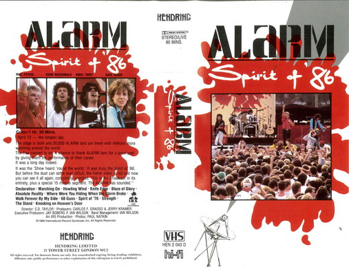 ALARM: SPIRIT OF '86 (VHS)