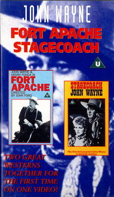 FORT APACHE  + STAGECOACH - UK (VHS)