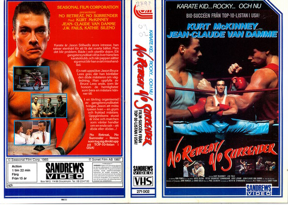 NO RETREAT NO SURRENDER (vhs)