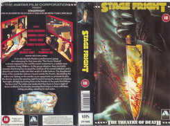 STAGE FRIGHT (VHS) uk