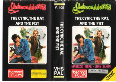 V.105 CYNIC, THE RAT AND THE FIST (VHS) SAKNAR ETTIKETTER